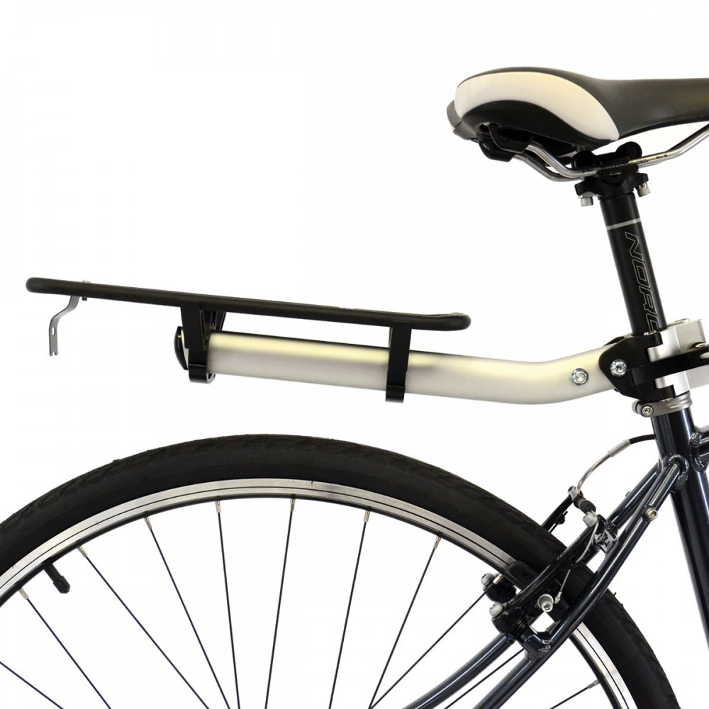 Axiom Flip Flop DLX Seat Post Rack Rear Mount 25.4-33mm Commuter Tour Urban Bike