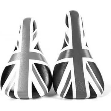 Black Unionjack Embroidered Seat & Post Combo
