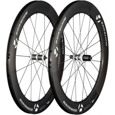 Bontrager Aeolus 7 D3 Tubular Wheel - Carbon/White