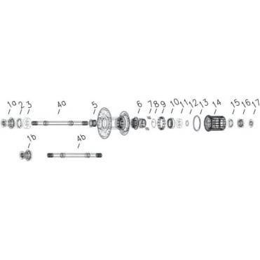 Bontrager Race Lite Centerlock Front Axle Set