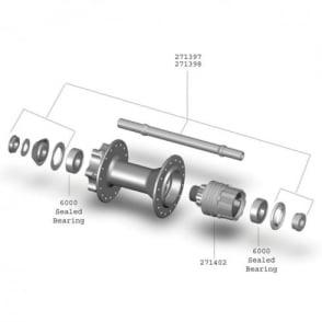 Bontrager Race Single Speed QR Rear Hub Axle Kit
