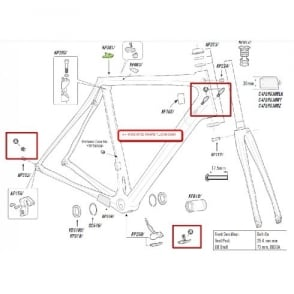Cannondale DI2 Synapse Plug BB Cover Kit