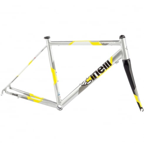 Cinelli Experience Silver/Yellow Frameset