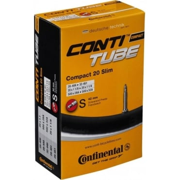 Continental Compact Tube 20 x 1 1 / 4 - 1.75 inch Schrader Valve Inner Tube