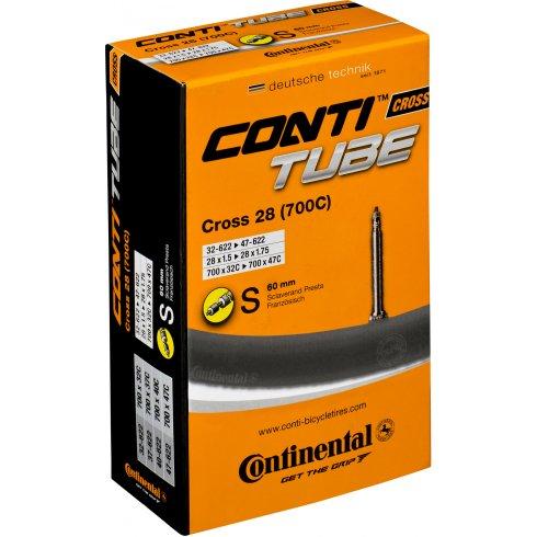 Continental Cross 700 x 32 - 42C Presta 60mm Long Valve Inner Tube