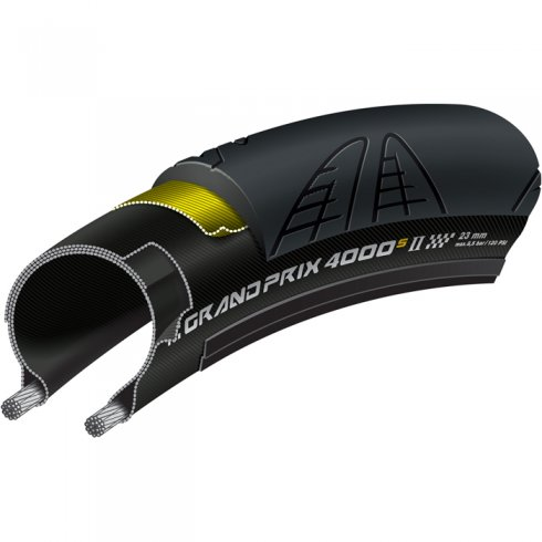 Continental Grand Prix 4000 S II Black Chili Folding Tyre