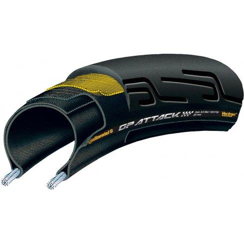 Continental Grand Prix Attack II 700 x 22C Front Black Chili - Vectran Tyre