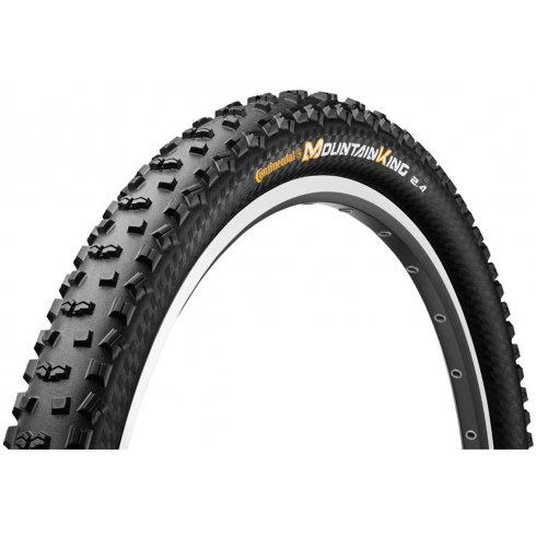 "Continental Mountain King II RaceSport 26"" Black Chili Folding Tyre"