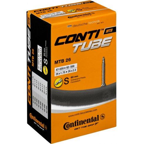 Continental MTB 26 x 1.75 - 2.25 inch Presta 60 mm Long Valve Inner Tube