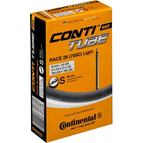 Continental R28 Light 700 x 20 - 25C Presta 80mm Extra Long Valve Inner Tube
