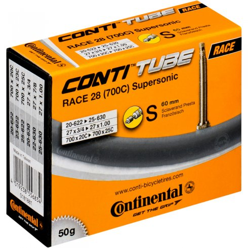 Continental R28 Supersonic 700 x 20-25c Presta 60mm Valve Inner Tube