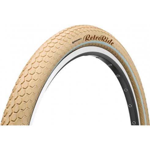 """Continental Retro Ride Reflex 26 x 2.0"""" Cream Tyre"""