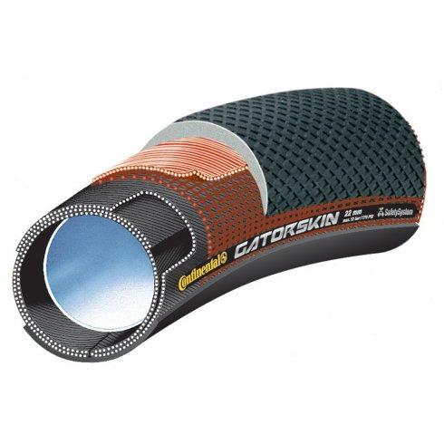 "Continental Sprinter GatorSkin 28"" Black / DuraSkin Tubular Tyre"