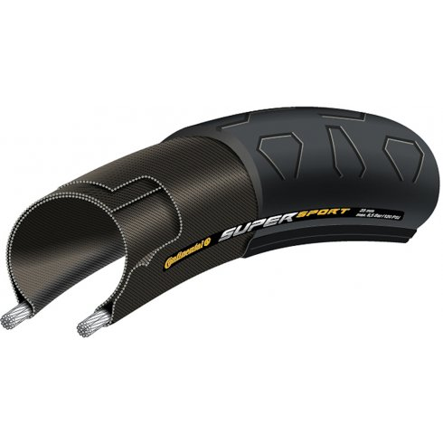 "Continental SuperSport Plus 27 x 1-1/4"" Black Tyre"