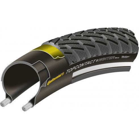 Continental Top Contact Winter II Premium Reflex 700c Black Folding Tyre