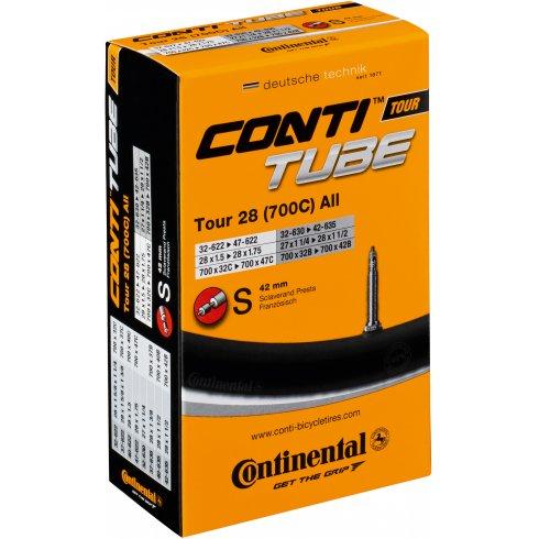 Continental Tour 28 Tube 700 x 32 - 47C 60mm Presta Long Valve Inner Tube