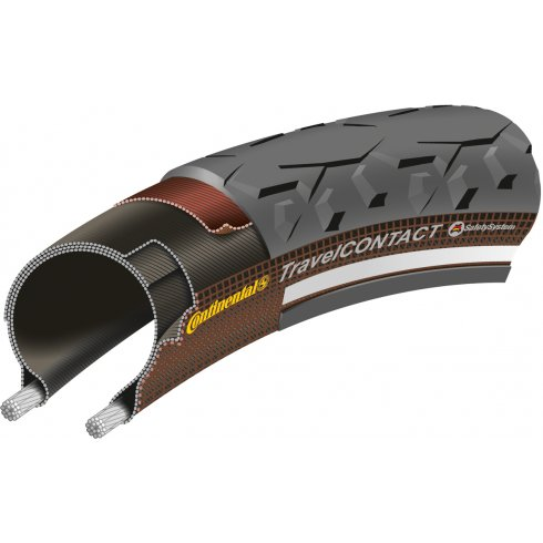 Continental Travel Contact 700x37C Black Folding Tyre