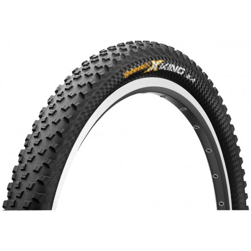 "Continental X-King RaceSport 27.5"" Black Chili Folding Tyre"