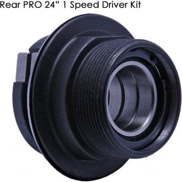 """Dmr Pro 24"""" Rear Wheel 1spd Freehub Body"""