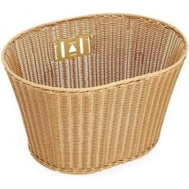 Plastic Wicker Front Basket