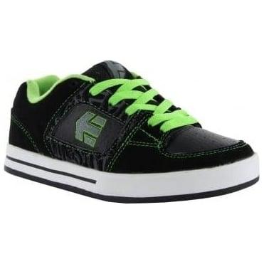 Etnies Kids Ronin BMX Shoes - Black/Lime