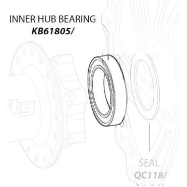 Lefty Inner Hub Bearing