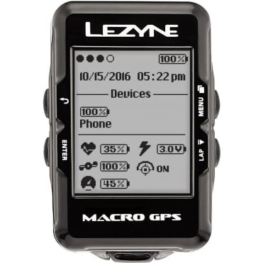 Lezyne Macro Navigate GPS Cycle Computer - Loaded Bundle