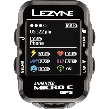 Lezyne Micro Colour Navigate GPS Cycle Computer - Loaded Bundle