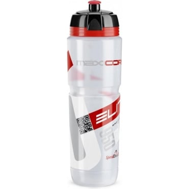 MaxiCorsa Biodegradable Bottle - Clear Red Logo 950ml