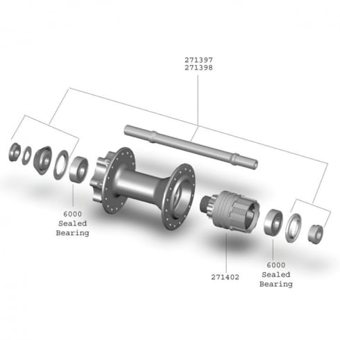 Bontrager Race Single Speed QR Rear Hub Axle Kit