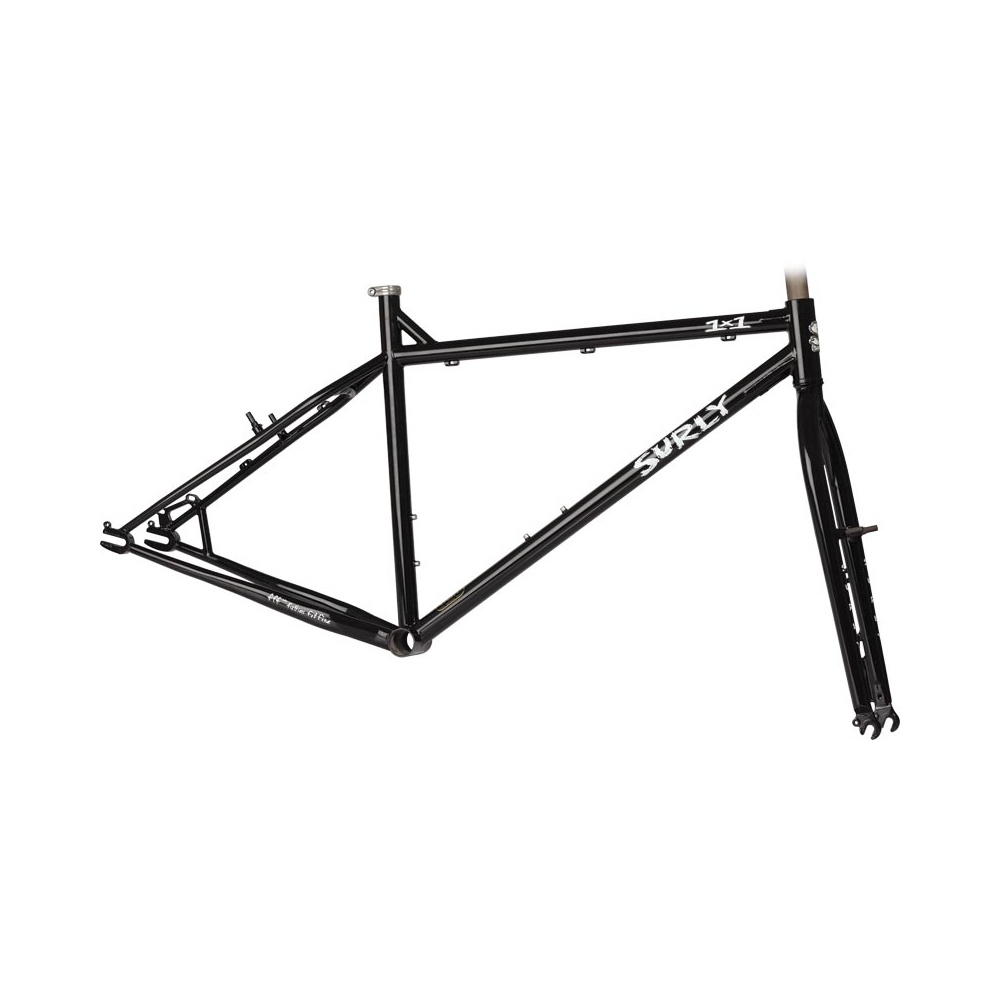 surly 1x1 single speed mountain bike frameset black