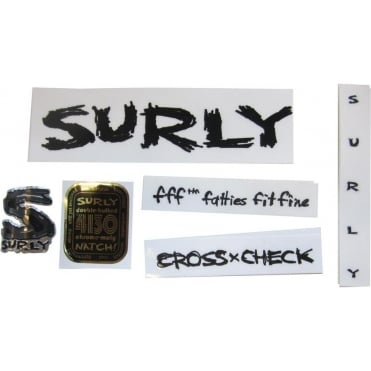 Surly Frame Decal Kit: Cross-Check - Complete inc. Headtube Badge